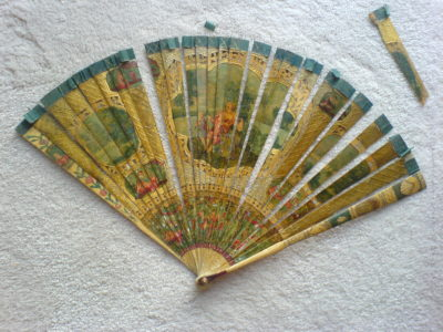 Brise fan c 1700 requiring reribboning